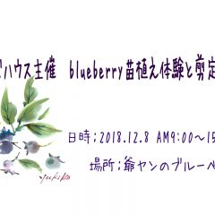 参加者様 アンマズハウス主催 blueberry苗植え体験と剪定講習会 スケジュール