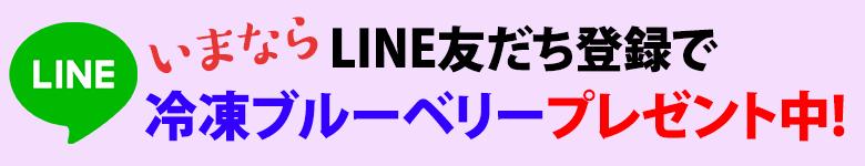 LINE友だち登録で冷凍ブルーベリープレゼント